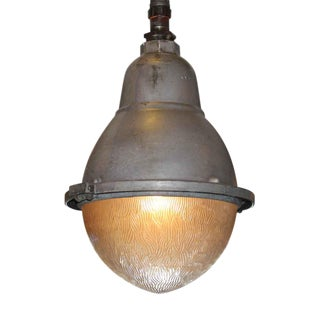 Industrial Egg Shaped Pendant Light