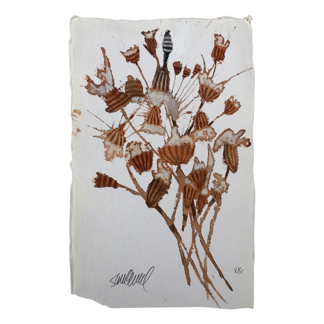 """Dried Flowers"" Original Watercolor - Image 1 of 3"