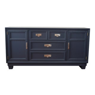Stanley Mid-Century Navy Credenza For Sale