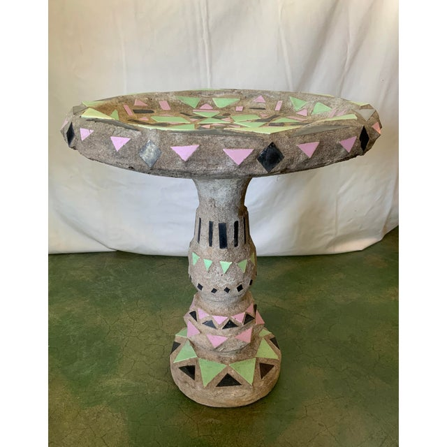 Vintage Malibu Tile Bird Bath For Sale - Image 9 of 13