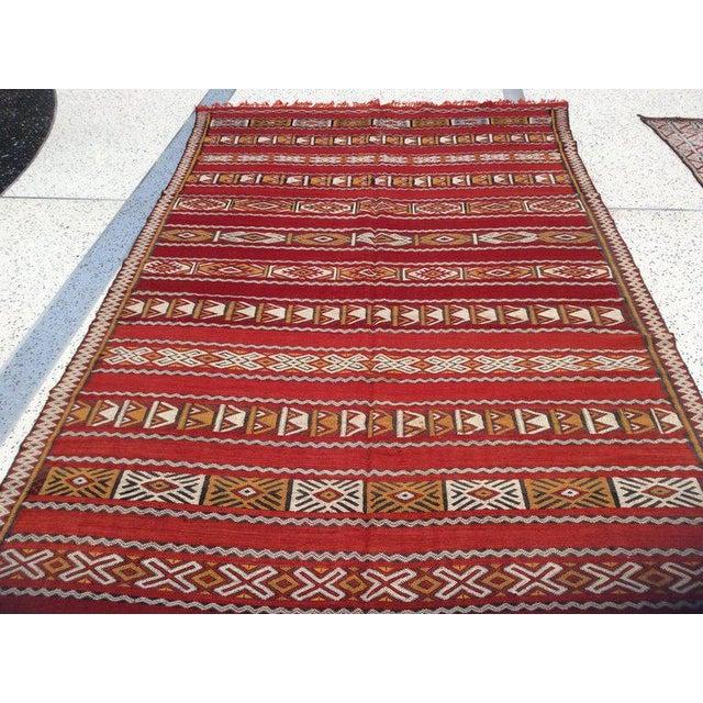 Moroccan Tribal Design Runner - 5′8″ × 11′4″ For Sale - Image 5 of 5