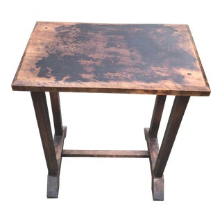 Antique English Wooden Side Table For Sale
