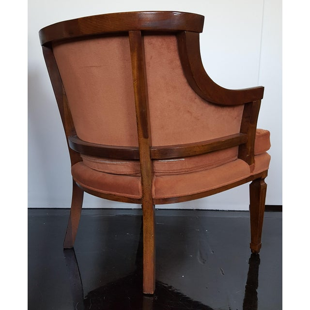 Mid-Century Neoclassical Revival Arm Chairs - a Pair For Sale - Image 4 of 10