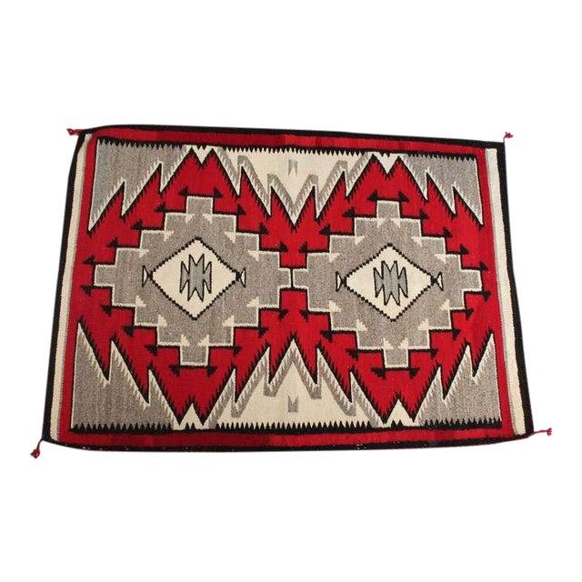 Navajo Indian Ganado Woven Saddle Blanket - Image 1 of 4
