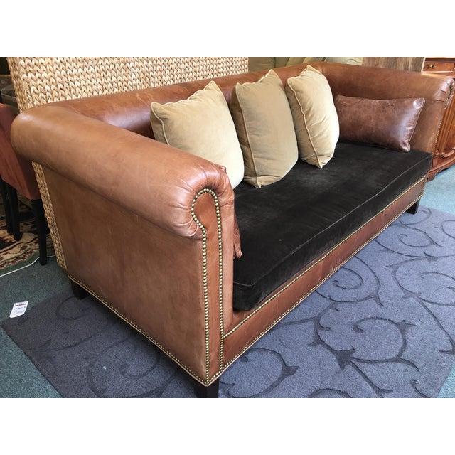 Ralph Lauren Brompton Leather Sofa - Image 6 of 9