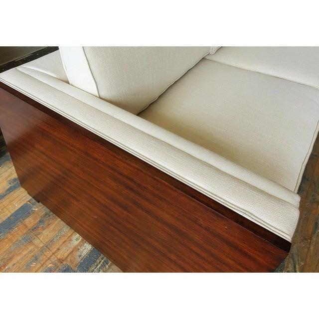 Thomasville Furniture Ernest Hemingway Moncado Mahogany Art Deco Sofa For Sale In Greensboro - Image 6 of 10