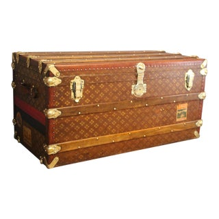 "1930's Steamer Trunk by "" Aux Etats Unis"" For Sale"