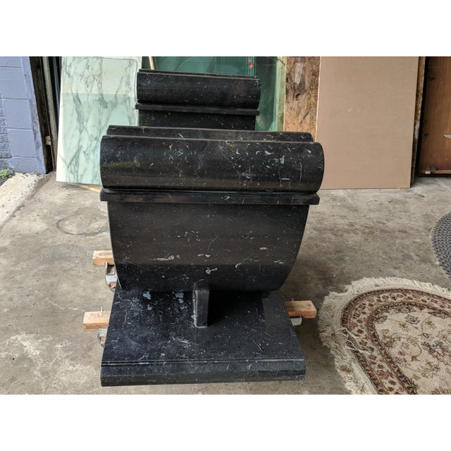 Late 20th Century 20th Century Art Deco Granite Console Table For Sale - Image 5 of 11