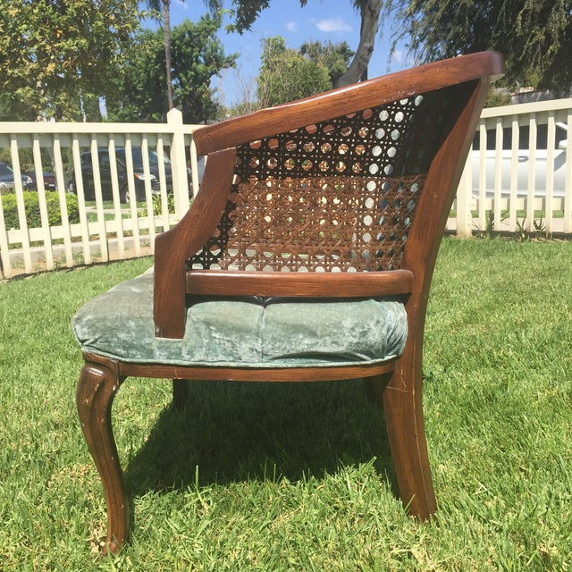 Mid-Century Cane Barrel Chair - Image 8 of 11