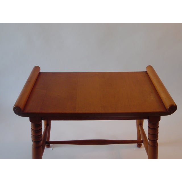 Mid- Century Wood Light Brown Color Bench - Image 10 of 11
