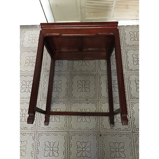 Asian 1900s Chinese Mahogany Handmade Side Table For Sale - Image 3 of 12