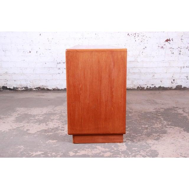 Danish Modern Teak Tambour Door Sideboard Credenza by Dyrlund For Sale - Image 11 of 13