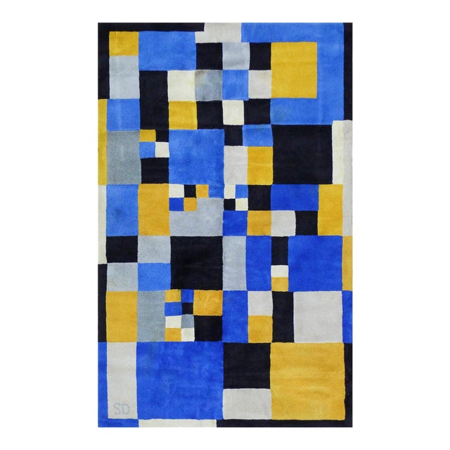 """Limited Edition Rug After Sonia Delaunay - """"Magical Squares"""" For Sale"""