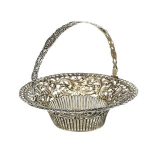 German .800 Silver Pierced Basket