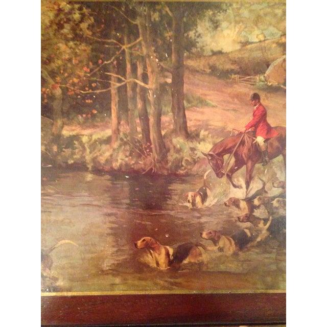 Vintage Hunting Scene Folding Tray Table For Sale In Nashville - Image 6 of 8