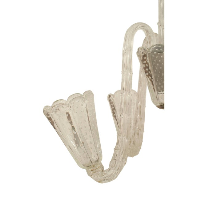 Barovier & Toso 1940s Italian Opalescent Glass Chandelier by Barovier E Toso For Sale - Image 4 of 5