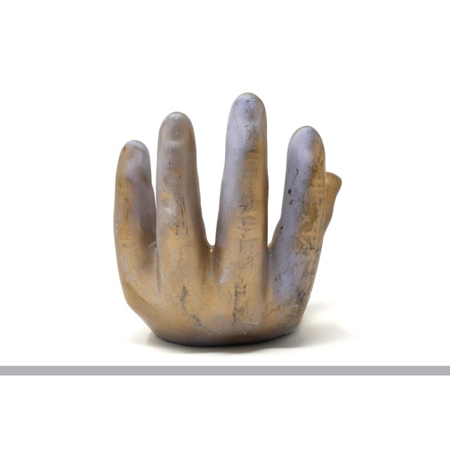 1960s 1960s Gold Ceramic Hand Model For Sale - Image 5 of 10