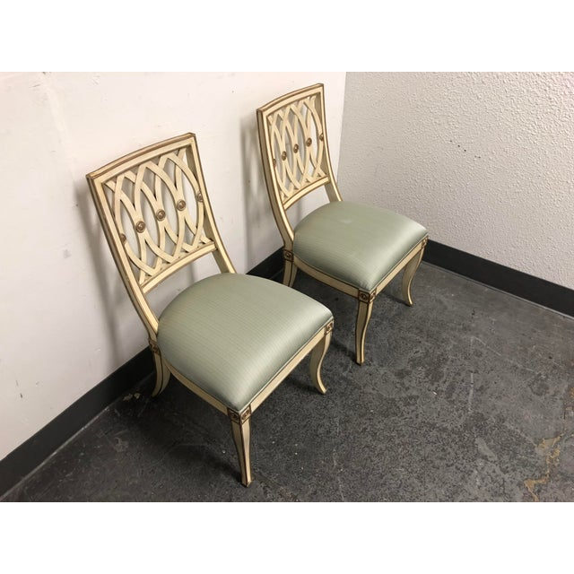 Design Plus Gallery presents a pair of Pillar Chairs by Maitland-Smith. Each chair is handcrafted of mahogany and hand...
