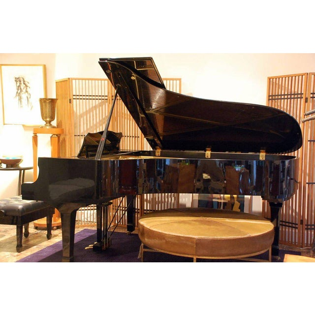 Yamaha C7 black lacquer concert grand piano. Yamaha serial number 2442423. The elite assembly of Yamaha C series grand...