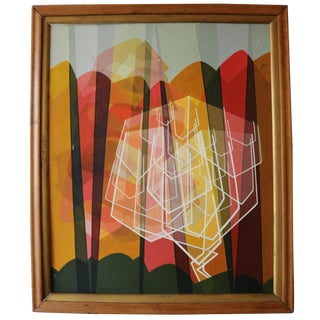 1957 Geometric Abstract Painting by Betsey For Sale