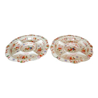 1940s Vintage Japanese Divided Relish Trays - A Pair For Sale