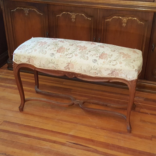Antique French Provincial Bench - Image 3 of 6