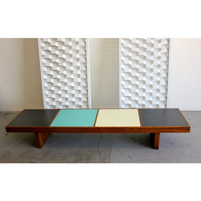 Harvey Probber Colorblock Coffee Table Bench - Image 2 of 10