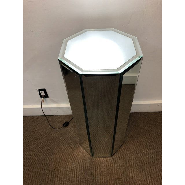 Mid-Century Modern Mirrored Pedestal For Sale - Image 10 of 10