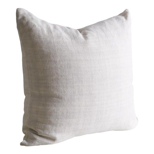 """Vintage Linen Pillow Cover 22"""" x 22"""" For Sale"""