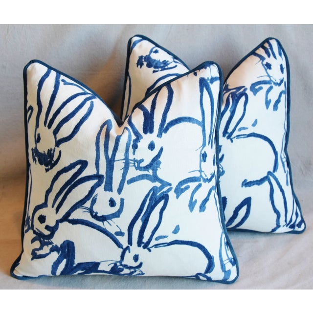 "Cotton Designer Groundworks Bunny Hutch Feather/Down Pillows 17"" Square - Pair For Sale - Image 7 of 13"
