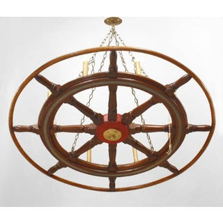 American Victorian Wooden Ship Wheels Chandeliers Preview