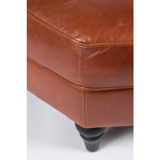 Modern Custom Edelman Leather Hexagonal Ottoman For Sale - Image 3 of 8