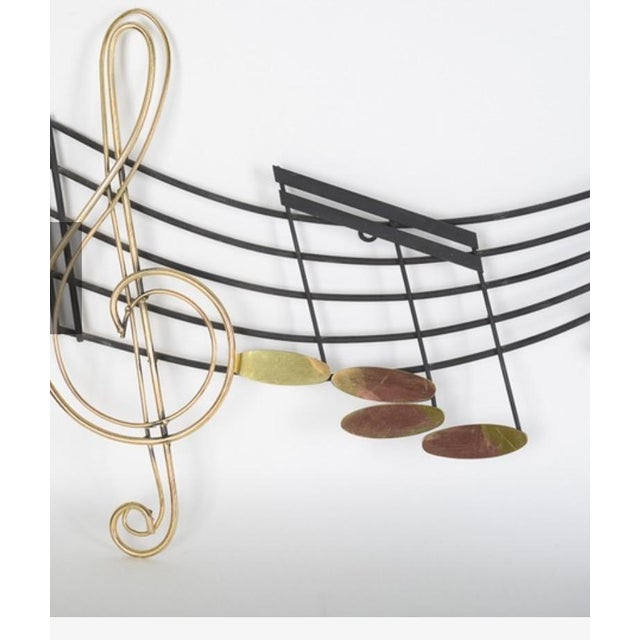 Curtis Jere Musical Note Wall Sculpture - Image 4 of 6