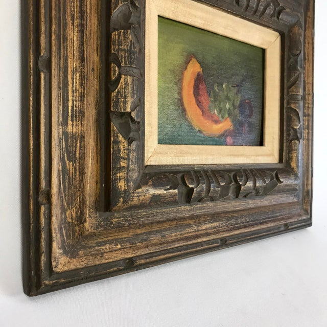 Vintage Mid-Century Framed Still Life with Fruit Painting For Sale - Image 4 of 10