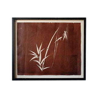 Antique Katagami of Bamboo Art For Sale