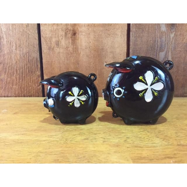 Asian Hand Painted Tilso Piggy Banks - A Pair For Sale - Image 3 of 7