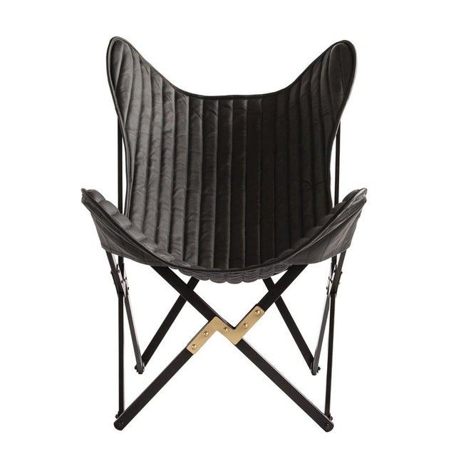 Not Yet Made - Made To Order Leather Butterfly Chair For Sale - Image 5 of 6
