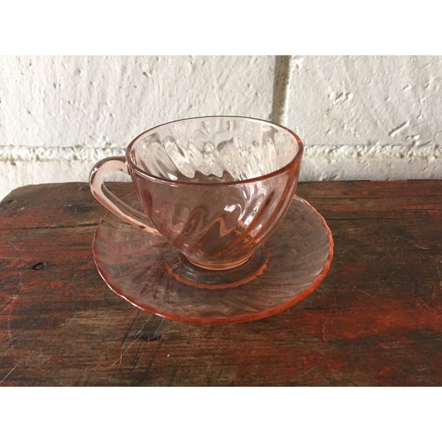 French Rosaline Tea Cups & Saucers - Set of 16 - Image 4 of 5