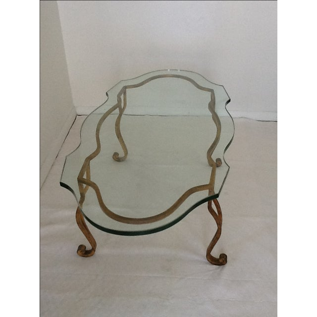 Vintage Iron Gold-Leaf Coffee Table - Image 4 of 5