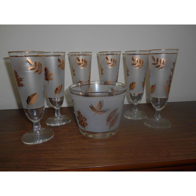Vintage Libby Pilsner Glasses With Ice Bucket - Set of 7 - Image 4 of 4