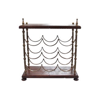 Rustic French Style Table Top Wine Rack For Sale