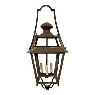 Vintage French Copper Lantern For Sale