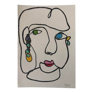 Original Fine Art Ink Drawing by Artist Tony Curry For Sale