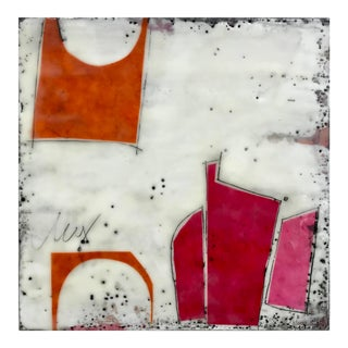 """Perceptions No. 12"" Original Encaustic Collage Painting by Gina Cochran For Sale"