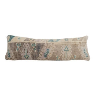 Muted Turkish Rug Pillow Cover For Sale