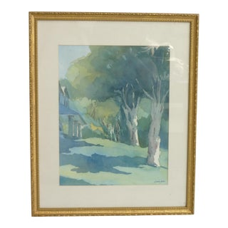 2001 Cicely Perrotte Watercolor Painting For Sale