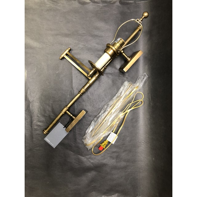 E. F. Chapman Dorchester Double Backplate Swing Arm Wall Sconce For Circa Lighting/Visual Comfort. This was a display...