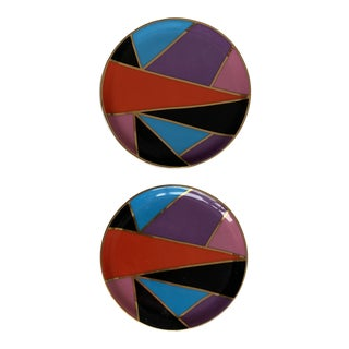 Jonathan Adler Modern Coasters - a Pair For Sale