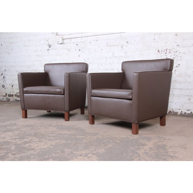 Ludwig Mies Van Der Rohe for Knoll Studio Krefeld Leather Club Chairs, Pair For Sale - Image 9 of 9