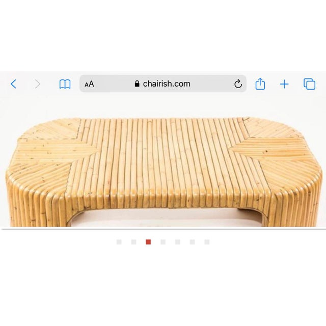 Boho Chic 1960s Italian Midcentury Bamboo Coffee Table For Sale - Image 3 of 7